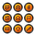 E-mail icons, orange series Stock Photography