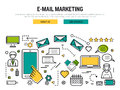 E-mail marketing line concept Royalty Free Stock Photo
