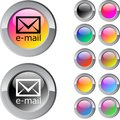 E-mail multicolor round button. Stock Photos