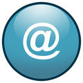 E-mail sign Button Icon (Blue) Stock Images