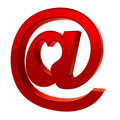 E-mail sign icon with heart Royalty Free Stock Image