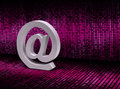 E mail sign on pixel graphic background symbol digital Stock Photo