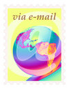 E-mail stamp Stock Images