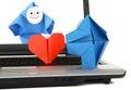 E-mededeling en elektronische handelmetafoor Royalty-vrije Stock Afbeeldingen