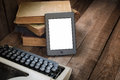 E-Reader on table Royalty Free Stock Photo