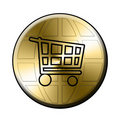 E-shop button Royalty Free Stock Photography