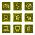 E-shop web icons, electronics card series Stock Image