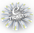 E-Tickets Word Ring Stock Image
