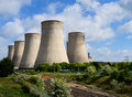 The e on uk power station at ratcliffe on soar cooling towers of controlled near nottingham in nottinghamshire Stock Photo