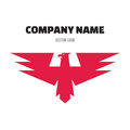 Eagle Abstract Sign in Classic Graphic Style for Business Company - vector logo design template. Royalty Free Stock Photo