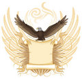 Eagle with Ancient  Scroll Royalty Free Stock Image