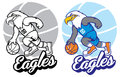Eagle basketball mascot vector of Stock Images