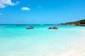 Eagle beach on Aruba island in the Caribbean Royalty Free Stock Photo