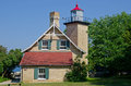 Eagle bluff lighthouse door county peninsula wisconsin Royalty Free Stock Image