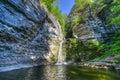 Eagle Cliff Falls, Finger Lakes, NY Royalty Free Stock Photo