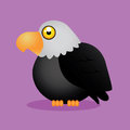 Eagle cute with shadow effect on purple background Stock Image