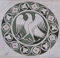 Eagle in a decorative circle on the Chiesa dei Santi Giovanni e Reparata Royalty Free Stock Photo