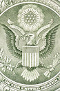 Eagle on the dollar bill Royalty Free Stock Photos