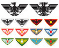 Eagle and double headed Eagle Royalty Free Stock Photo
