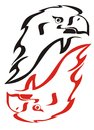 Eagle flame symbol Royalty Free Stock Photos