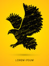 Eagle flying graphic vector. Royalty Free Stock Photo