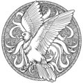 Eagle heraldry coat of arms. Labels, emblems Royalty Free Stock Photo