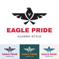 Eagle pride logo for business compan vector creative design works Stock Photography