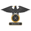 Eagle with shield black heraldic and nameplate Royalty Free Stock Images