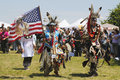 The eagle staff leads the grand entry at the nyc pow wow new york june in brooklyn a is a gathering and heritage Royalty Free Stock Photos