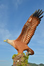 Eagle statue at langkawi island Stock Image