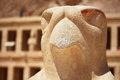 Eagle statue surrounding the main entrance of Temple of Queen Hatshepsut in Luxor Royalty Free Stock Photo