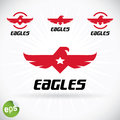 Eagle symbol illustration with sticker Stock Images