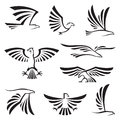 Eagle symbols set of nine Stock Image