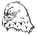 Eagle tribal tattoo vector illustration background Stock Photo