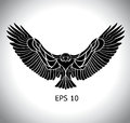 Eagle vector flying in eps Stock Photography