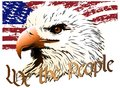Eagle vector image of an the symbol of the united states Royalty Free Stock Photos