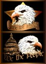 Eagle vector image of an the symbol of the united states Stock Photos