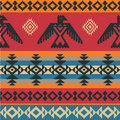 Eagles ethnic pattern on native american style