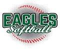 Eagles Softball Design Royalty Free Stock Photo