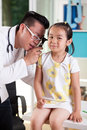 Ear examination at pediatrician's office Royalty Free Stock Photo