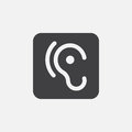 Ear icon Vector illustration isolated on white .
