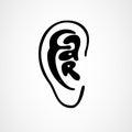 Ear letting in ear form