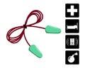 Ear plugs vector illustration. Foam earplugs. Royalty Free Stock Photo