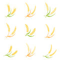 Ear spike logo badge icon wheat isolated vector. Royalty Free Stock Photo