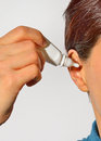 Ear wax removal Stock Images