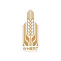 Ear of wheat - vector logo template concept illustration. Cereal organic sign. Ecology nature symbol. Agriculture icon.