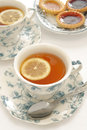 Earl grey tea with lemon Stock Image