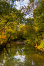 Early autumn color along a creek in rural adams county pennsylv pennsylvania Stock Images