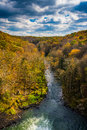 Early autumn color along the Gunpowder River, seen from the Pret Royalty Free Stock Photo