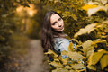 Early autumn portrait of girl Royalty Free Stock Images